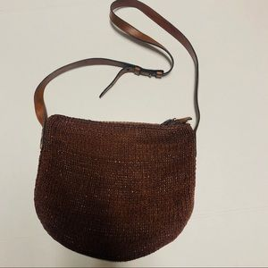 Vintage Cole Haan leather braided leather bag